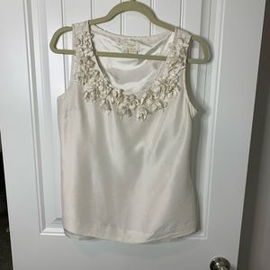Kate Spade silk embellished tank top size small